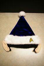 Rare New 2011 Kurt S. Adler Blue Spock Ears Star Trek Christmas Hat With Tags