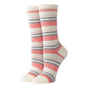 Stance NEW Women's Crossroad Crew Socks - Cream BNWT