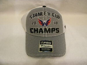 New NWT Fanatics 2018 Stanley Cup Champions Capitals Hat Official Locker Rm Hat!