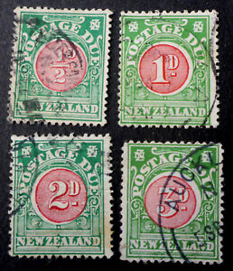 NEW ZEALAND #J19 USED CAT.$50 + 3 OTHER POSTAGE DUE (C) KEY VALUE