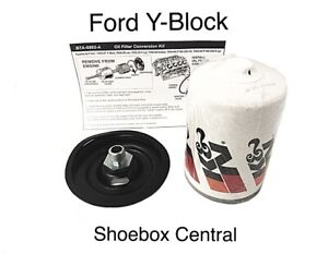 1954-64 Ford 239 256 272 292 312 Y-Block Oil Filter Conversion KIT