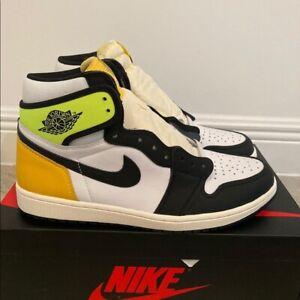 Nike Air Jordan Retro 1 HIGH OG Volt Orange Black 555088-118 Men & GS