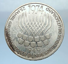 1974 GERMANY 25 Years German Federal Constitution Law Silver Proof Coin i71929