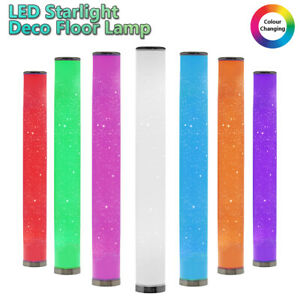 Colour Changing LED Floor Lamp Starlight Round Deco Tube Mood Light 104cm Tall