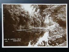 Derbyshire:View in LATHKIL DALE - Old RP Postcard