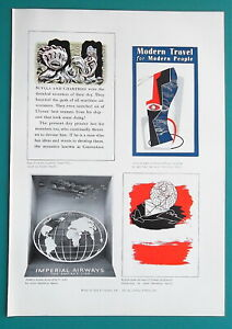 1939 Advertisement Examples for Imperial Airways & Fortnum and Mason Food Co