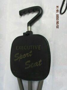 Executive Sports Seat, Portbale Folding Stadium, Event 3 Leg Seat w Handle, VGC!