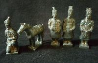 Guerriers et cheval de L'Armée De Xian - DaQin Reproduction En Terre Cuite 13cm