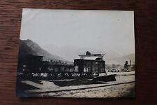 Photographie ancienne 1905 Gare Sallanche Haute-Savoie Train