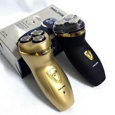 Rasoio elettrico da barba 3 testine ricaricabile cordless compatto ideale viaggi
