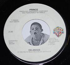"""Prince 45~Delirious / Horny Toad~Warner Bros. Clean Vinyl 7"""""""