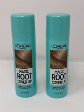 Two L'Oreal Paris Magic Root Cover Up Temp Gray Concealer Spray Dark Blonde 2oz