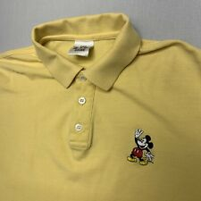 New listing Vintage Walt Disney World Store Yellow Men's Small Mickey Mouse Polo Shirt