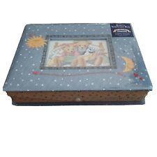 "Blue Jean Teddy - Baby's Keepsake Box - 11.75"" x 9.25"" x 2.75"" New"