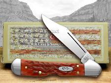 CASE XX Dark Red Jigged Bone Mini Copperlock CV Pocket Knives Knife