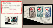 Italia 1951 Ginnici USATI Certificato CHIAVARELLO I VERI TIMBRI ORIGINALI RARO
