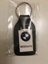 GENUINE BMW Williams Dealers KEY-RING CUIR fab émail insigne porte clé