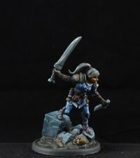 Lanelle, Female Rogue from Reaper Miniatures, D&D thief assassin character blue