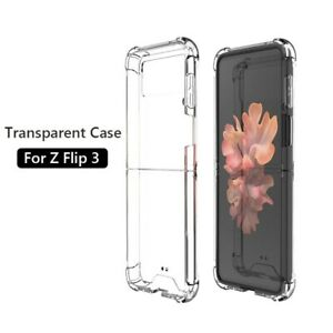 For Samsung Galaxy Z Flip 5G transparent silicone bumper shockproof back case