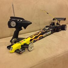 MEGATECH NITRO GAS 1/10 DRAGSTER TOP FUEL RAIL RC REMOTE CONTROL CAR SUPER RARE