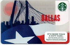 Starbucks Gift Card - DALLAS TEXAS - Bridge & Flag - 2015 City Series