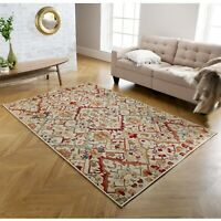 Valeria 20W Cream Multi Traditional Style Soft  Rug various sizes and runner
