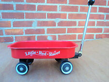 LITTLE RED RACER METAL WAGON 12.5 x 7.5 INCHES FOR DOLLS TEDDY BEARS, ETC - VGUC