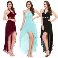 High Low Wedding Evening Party Dress Prom Ball Gown Cocktail Bridesmaid Dresses