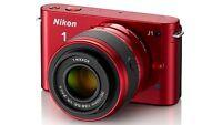 Nikon 1 J1 10.1 MP Digital Camera - Red (Kit w/ NIKKOR VR 10-30mm Lens)