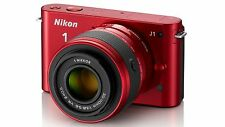 Nikon 1 J1 10.1 MP Digital Camera - Red (Kit w/ NIKKOR VR 10-30mm Lens)