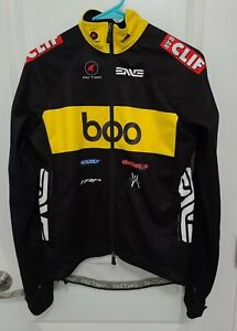 Mens Pactimo Bike Racing Riding Cycling Jersey Black Boo Clif Bar Full-Zip Small