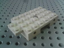 Lego Car Base Plate 4x7 with Wheel Holder Bricks and Hole - White x1