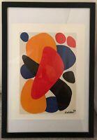 "Alexander Calder - ""Boomerang Tel Aviv"" - Offset Lithograph Poster, Signed 1973"