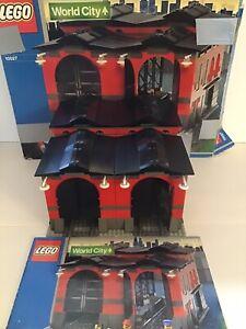 Lego World City 9V Lokschuppen Set 10027,komplett,OBA,OVP,Train Engine, Konvolut