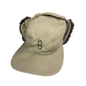 Vintage Bob Allen Gore-Tex Insulated Ear Flap Hat Cap Med Chin Strap Logo Brown