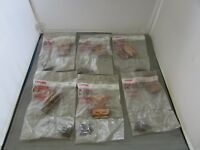 VTG Lot (12) Ajax Cabinet Jewelry Hinges 564 Phillips Head Screws Copper Finish