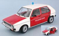 Modellautos Auto Feuerwehr diecast solido VW Golf Wachsam Feuer modelle 1:18