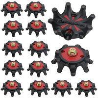 1/6/12pcs Replacement Red Black Soft Golf Shoe Spikes Metal Thread Studs
