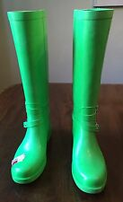 NWOB Coach Wellington Lime Green Rain Boots Size 9
