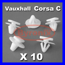VAUXHALL CORSA C WHEEL ARCH WING TRIM CLIPS PLASTIC FASTENERS