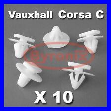 VAUXHALL CORSA C WHEEL ARCH TRIM CLIPS FASTENERS X 10