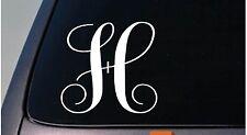 """LETTER H 6"""" monogram sticker decal truck car window teach craft initials *D779*"""