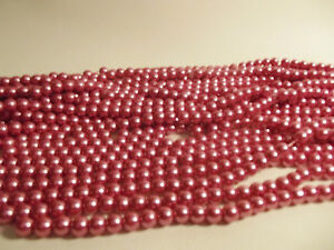 210+ pcs x Glass Pearl 4mm Round Beads: #89C Blush Rose