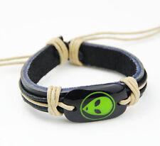 1pcs cool ET alien Martian leather bracelets S-12
