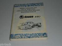 Spare Parts Catalog/Spare Parts List Skoda Octavia 440 Stand 1956