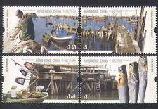 Hong Kong 2005 Fishing Villages/Boats/Food/Harbour/Transport 4v set (n35583)