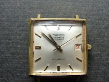 VINTAGE TUGARIS GREEN LEAVES 25 JEWELS INCABLOC AUTOMATIC WATCH