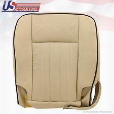 2003-2004 Lincoln Navigator Driver Bottom Perforated Leather Seat Cover- Tan