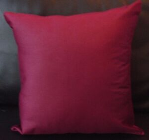 Set Of 4 Plain Burgundy Faux Suede  cushion covers Free P&P Only £9.99 set,