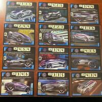 Acceleracers Cards 12 Silencerz Vehicles Lot! NM to M! RARE! Never Used!